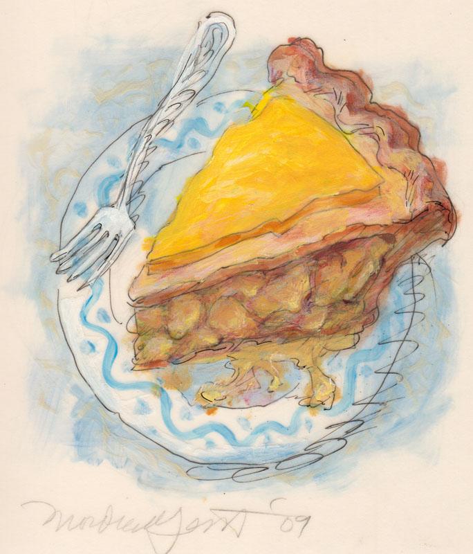 Apple Pie with Sharp Yellow Cheese