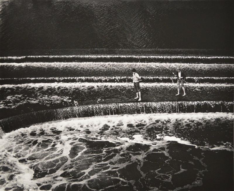 Boys Fishing, Bath England, 1984