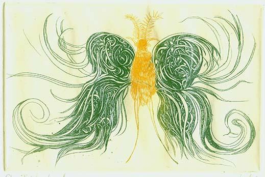 Butterfly Green Wings