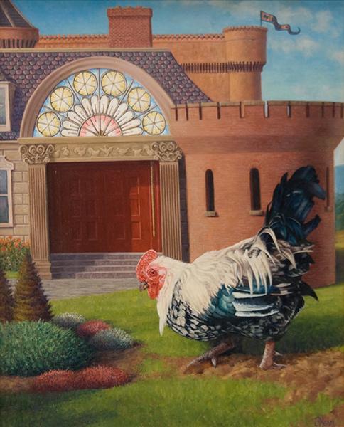 Chicken McMansion Yard Work