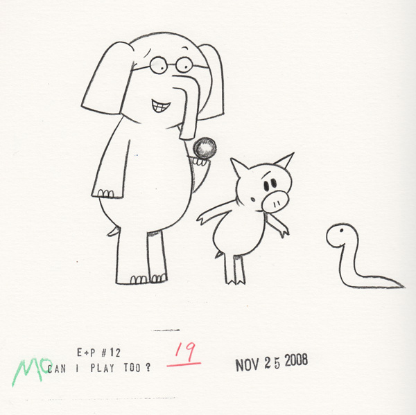 we are playing catch - Piggie And Elephant Coloring Pages