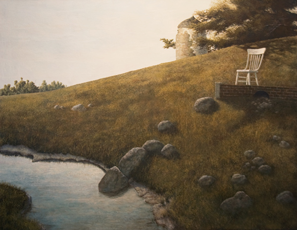 Landscape with White Chair