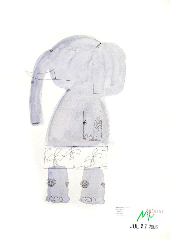 Elephant in Underwear
