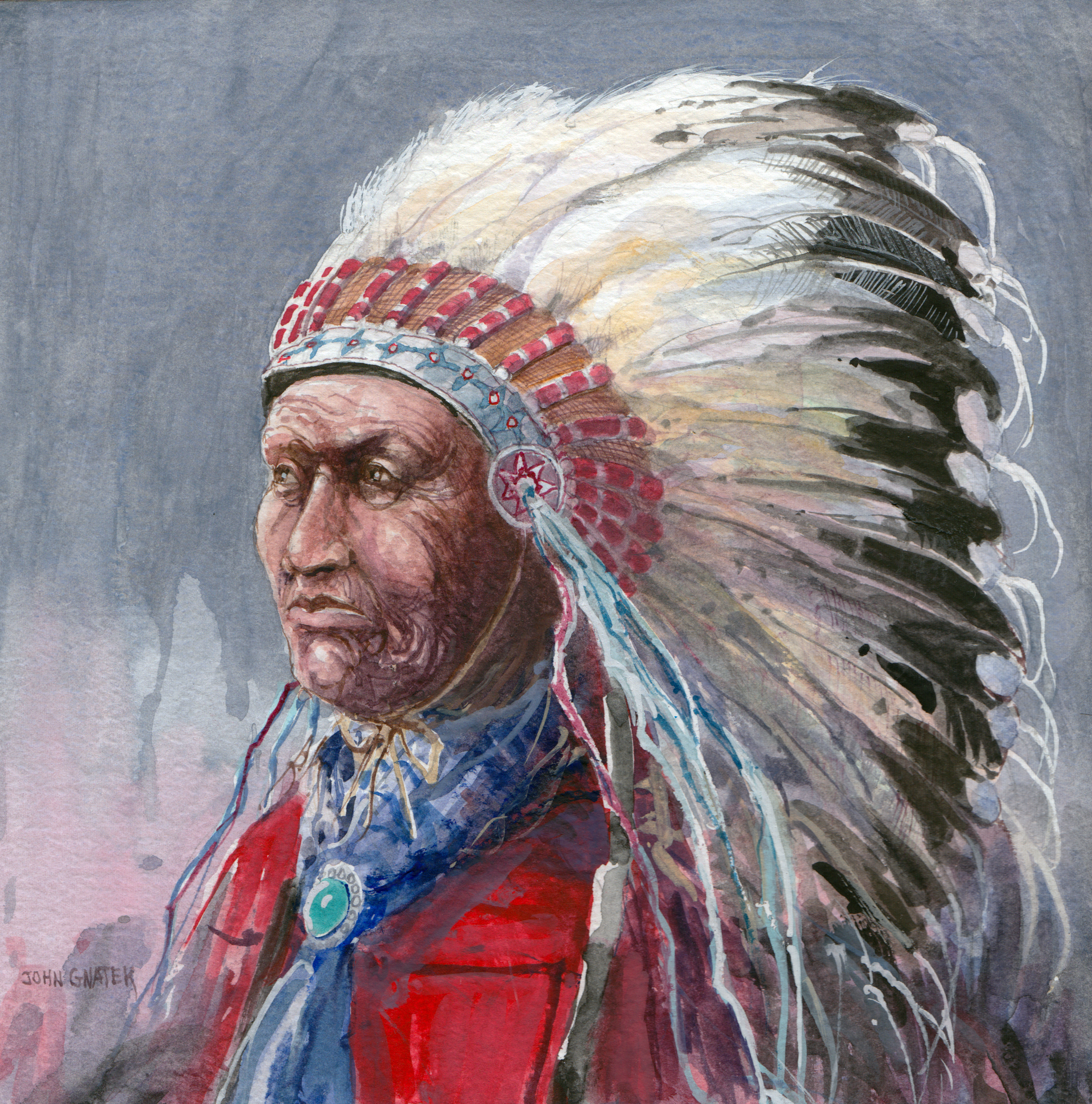 old indian chief â paintings â r michelson galleries