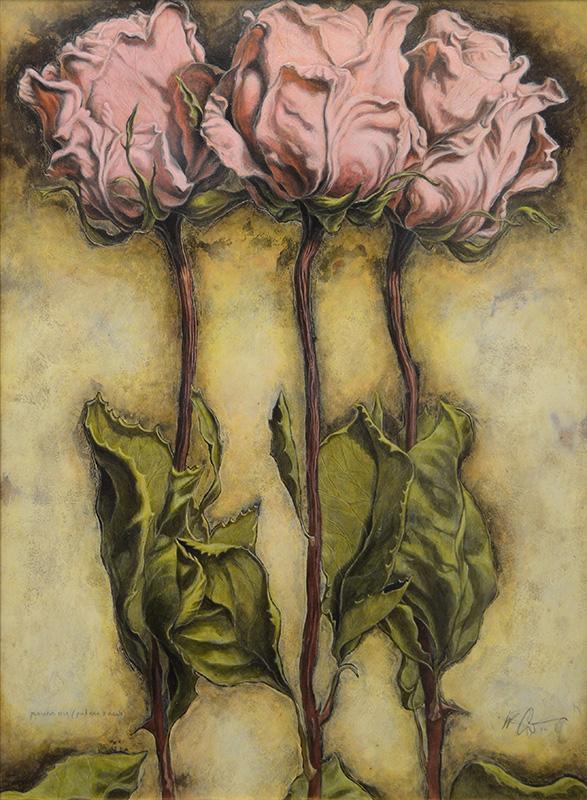 Pink Rose (3 Views)