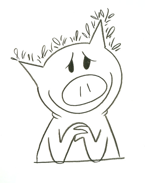 how to draw piggie willems