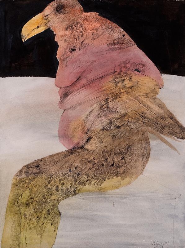 Seated Birdman with Yellow Beak