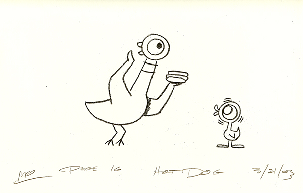 The Pigeon Finds a Hot Dog p16  Pigeon  R MICHELSON GALLERIES