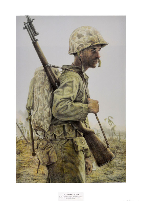 The Grim Face of War <br>U.S. Marine Corps, South Pacific