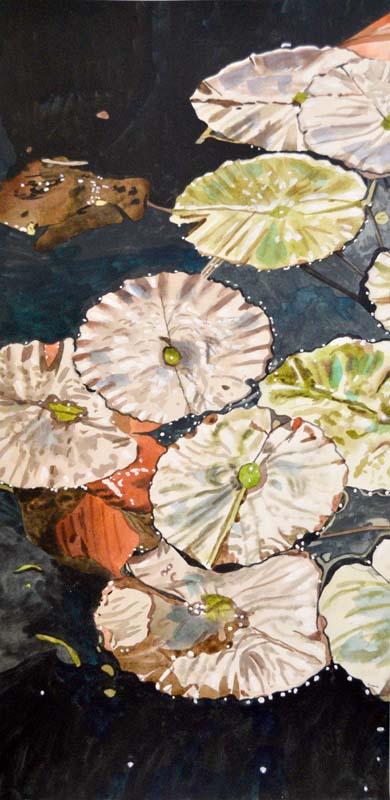 Water Lillies Triptic (Left)