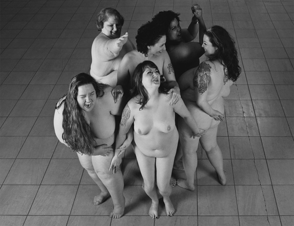 Girls Laughing in a Group