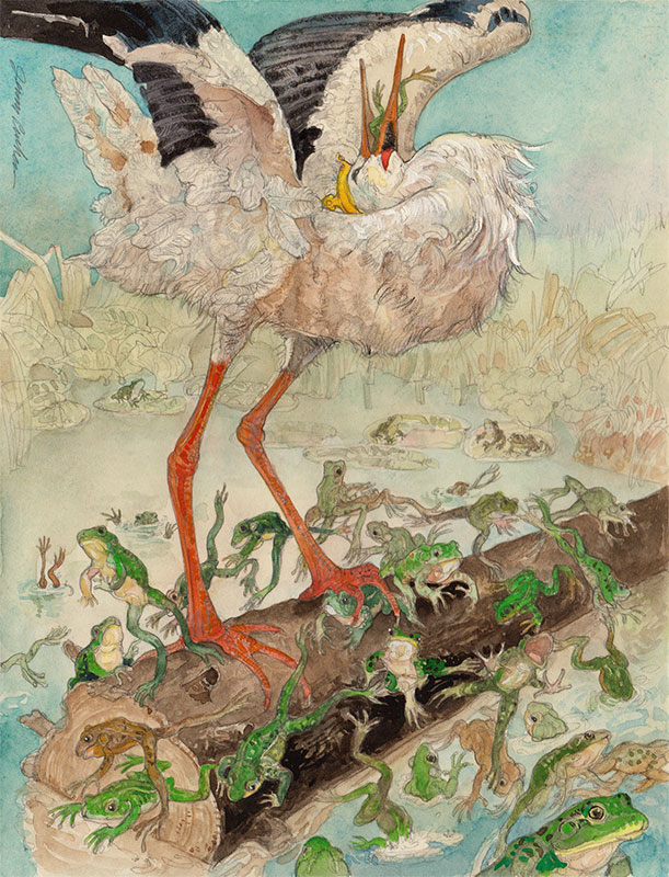 King Log and King Stork