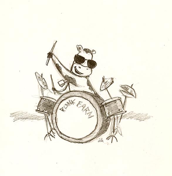 Cow On Drums (Study)