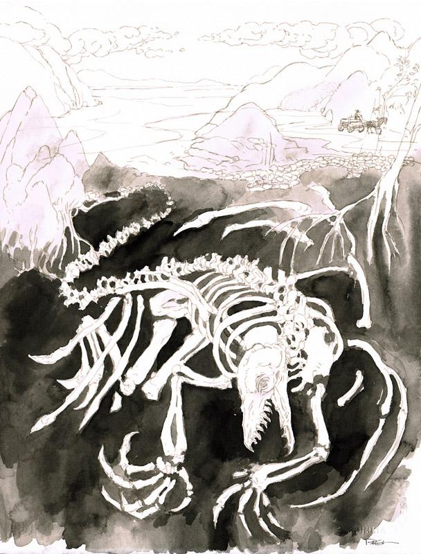 Skeleton Dragon Sketch
