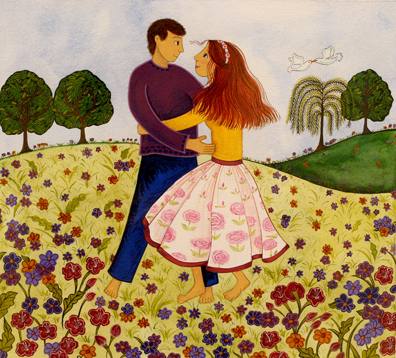 Couple on a Field