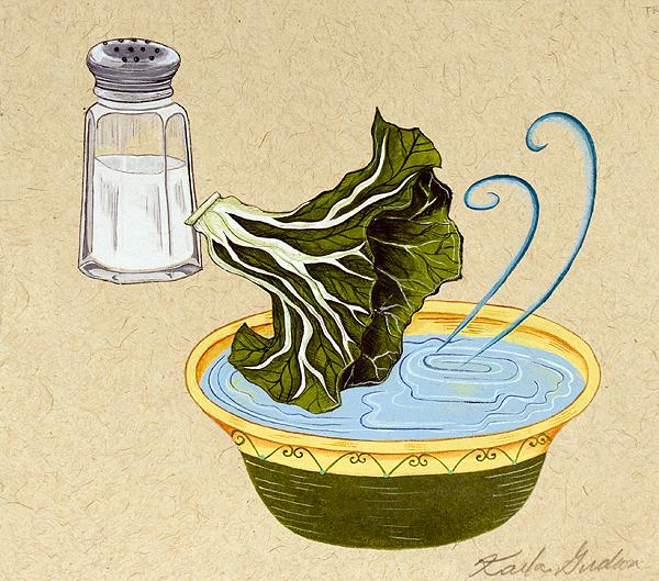 Dipping Lettuce