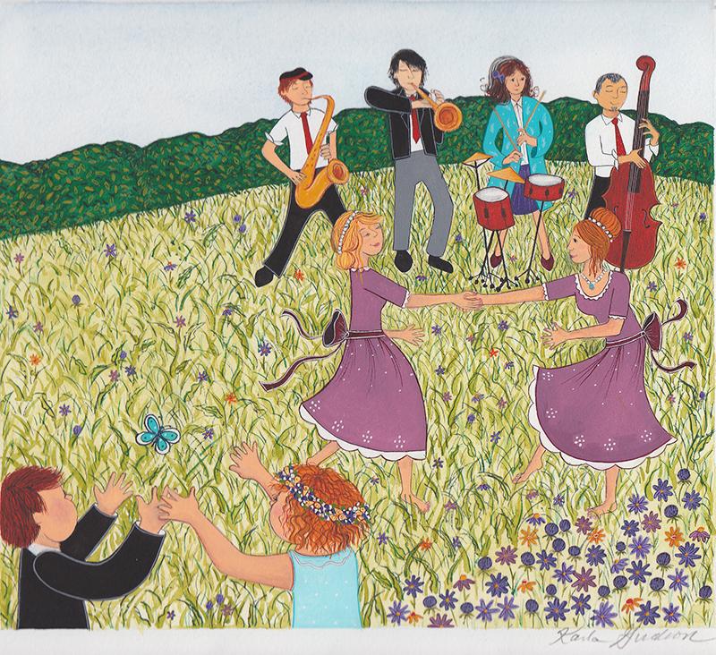 Garden Party Scene
