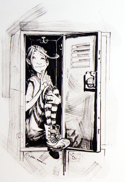 Girl in Locker