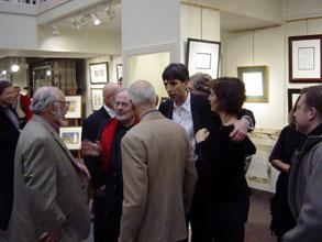 Norton Juster, Maurice Sendak, Mordicai Gerstein, gallery owner Richard Michelson, and Jennifer Michelson