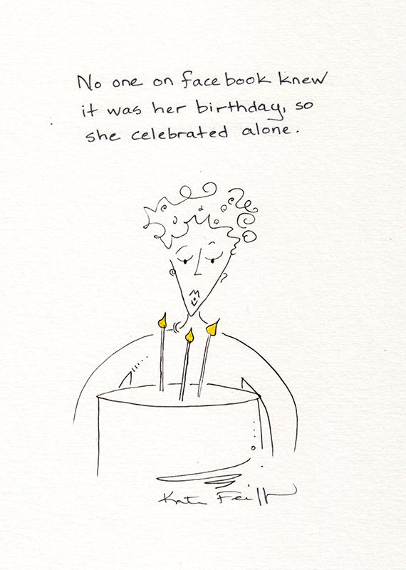 She Celebrated Alone