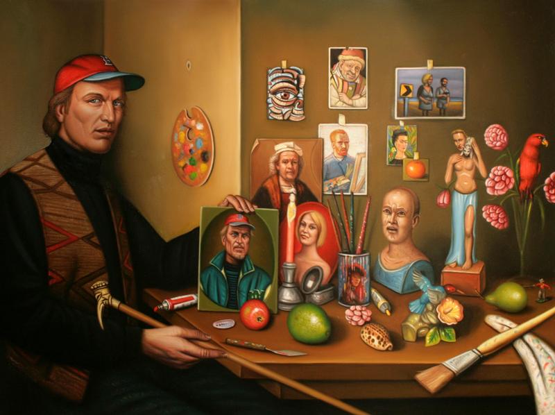 Double Self-Portrait Shrine