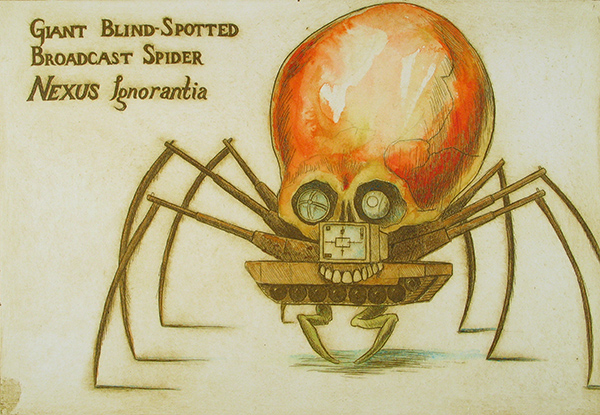 Giant Blind Spotted Broadcast Spider