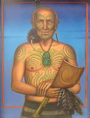 Self-Portrait with Maori Tattoo