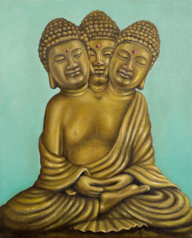 Siamese Triplet Buddha