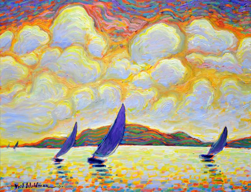 Five Sailboats