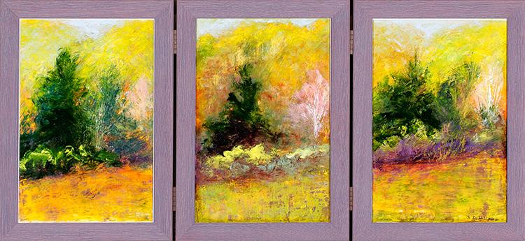 I Love Spring Triptych