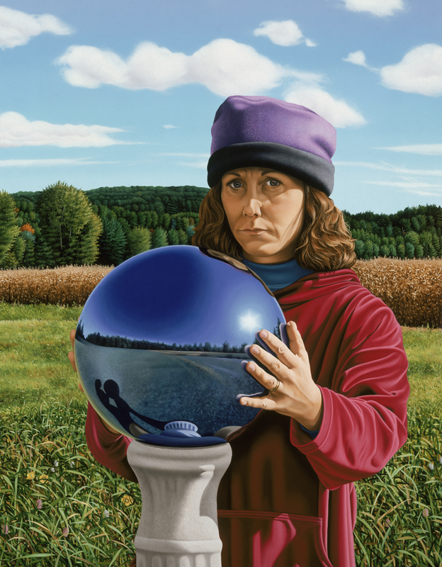 Self Portrait with Garden Globe