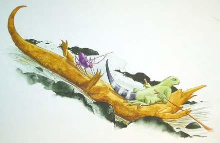 Chameleon Soon Got Tired