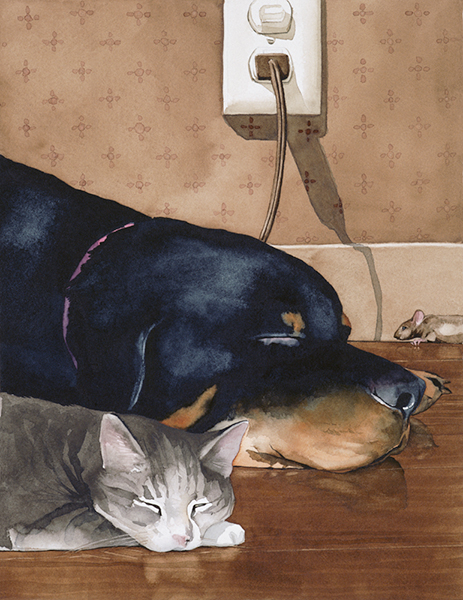 Dog, Cat, Mouse