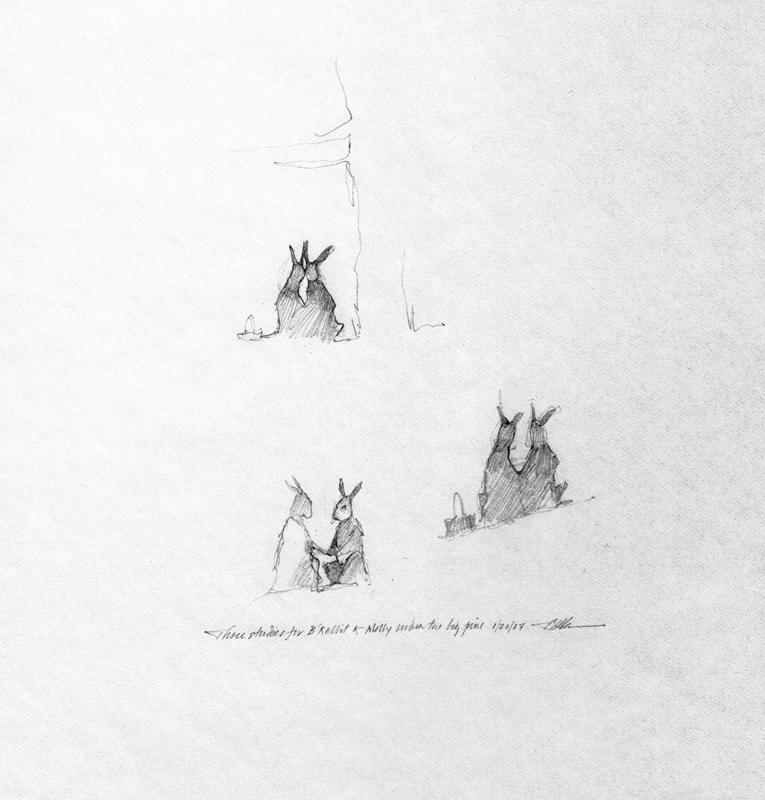 Three Studies for Brer Rabbit and Miss Molly