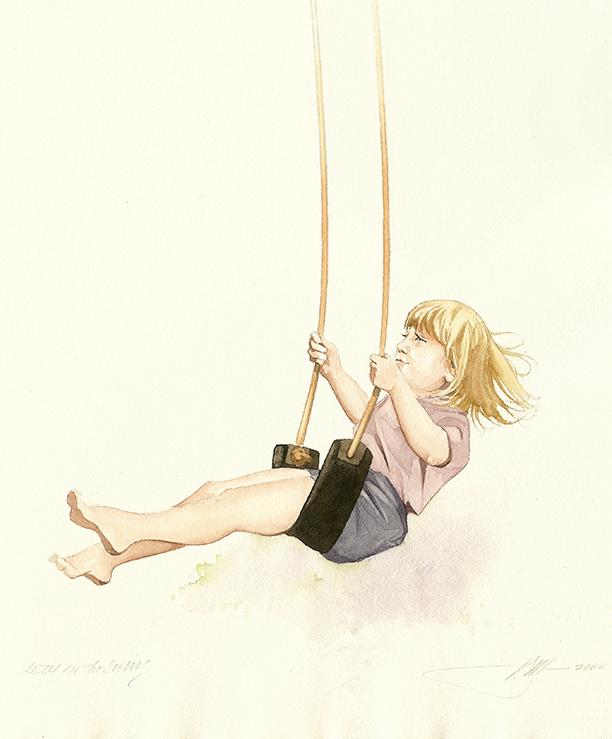 Lizzie on the Swings
