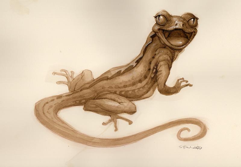Gaping Lizard