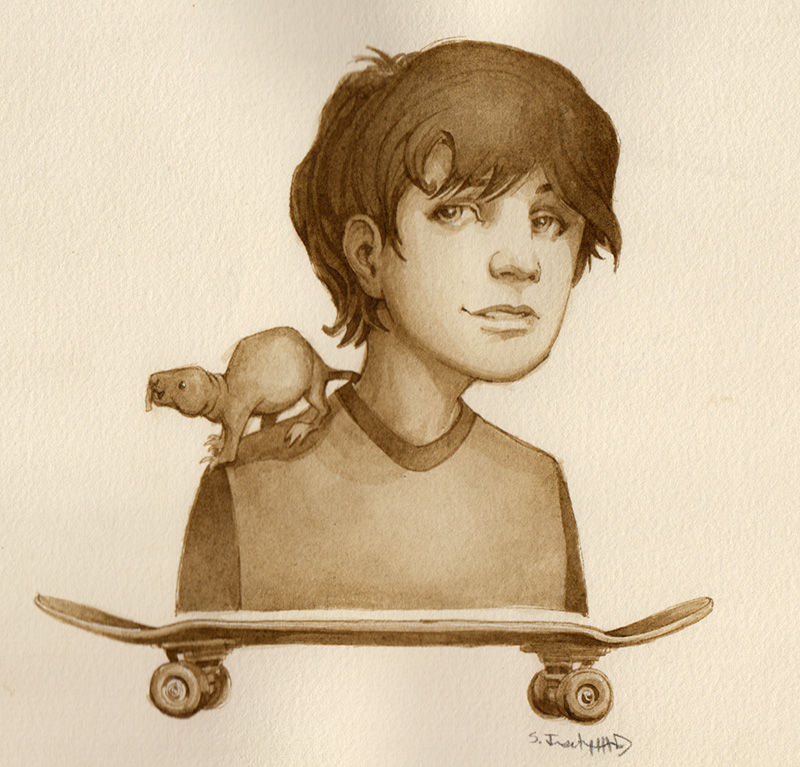 Skateboard and Rodent
