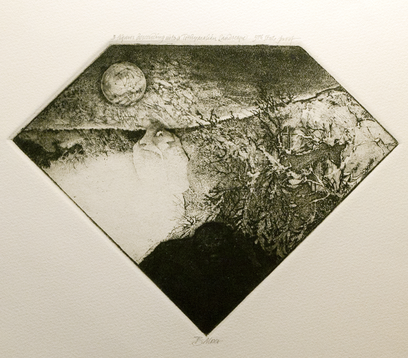 Two Figures Descending Into a Tithymalian Landscape