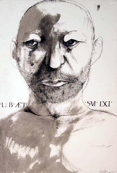 LB AET S SVI LXI (Self-Portrait at 61)22.5x15 in