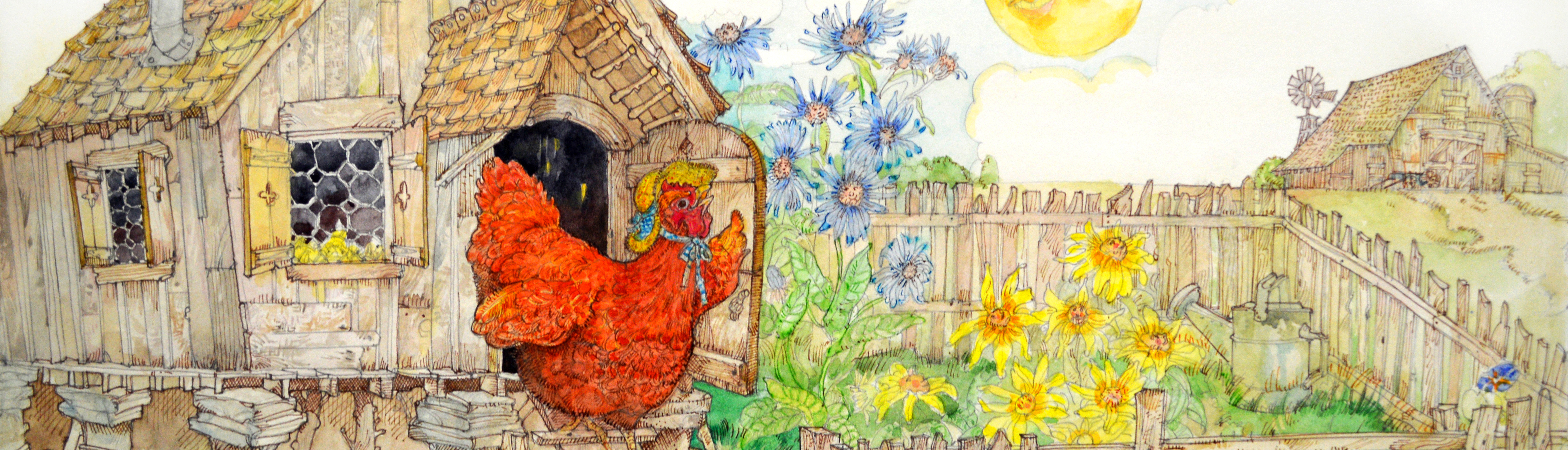 The Little Red Hen ∙ Jerry Pinkney ∙ R Michelson Galleries