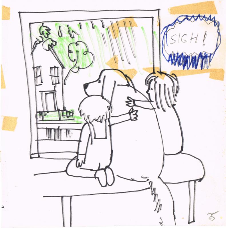 Sigh: Rainy Window