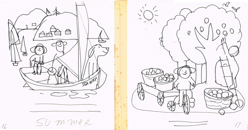 Summer Sailing and Apple Picking