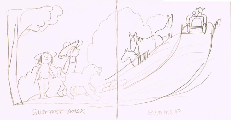 Summer Walk with Horses