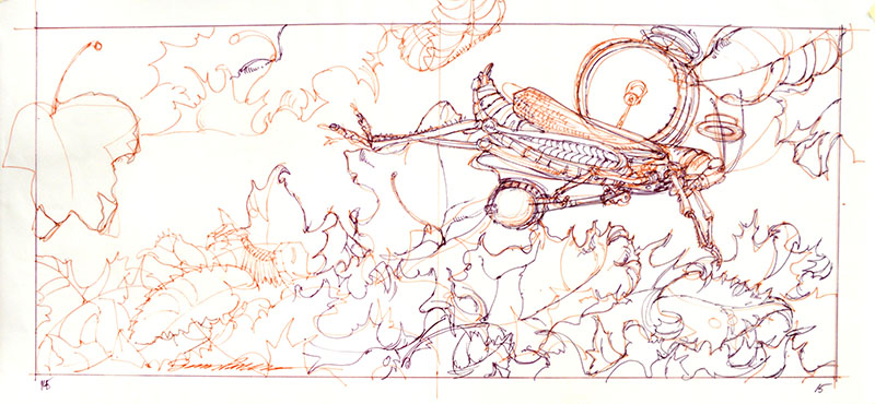 The Grasshopper and the Ants Study IV