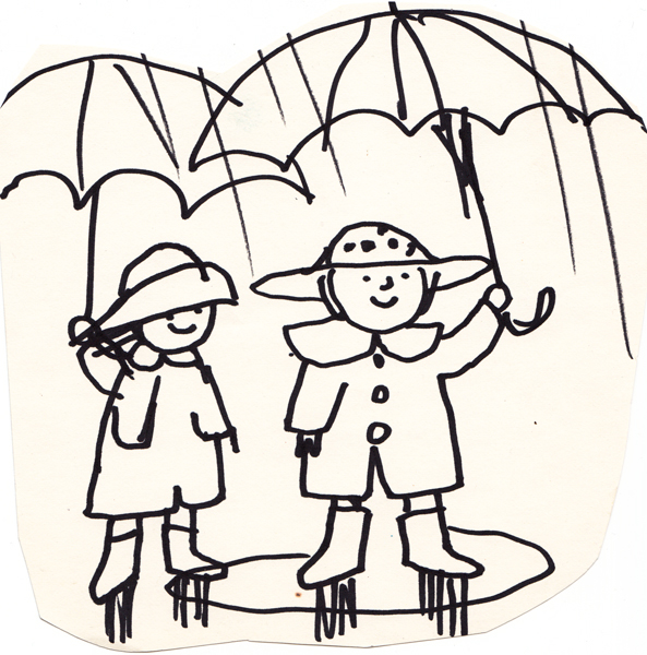 Two Umbrellas in the Spring
