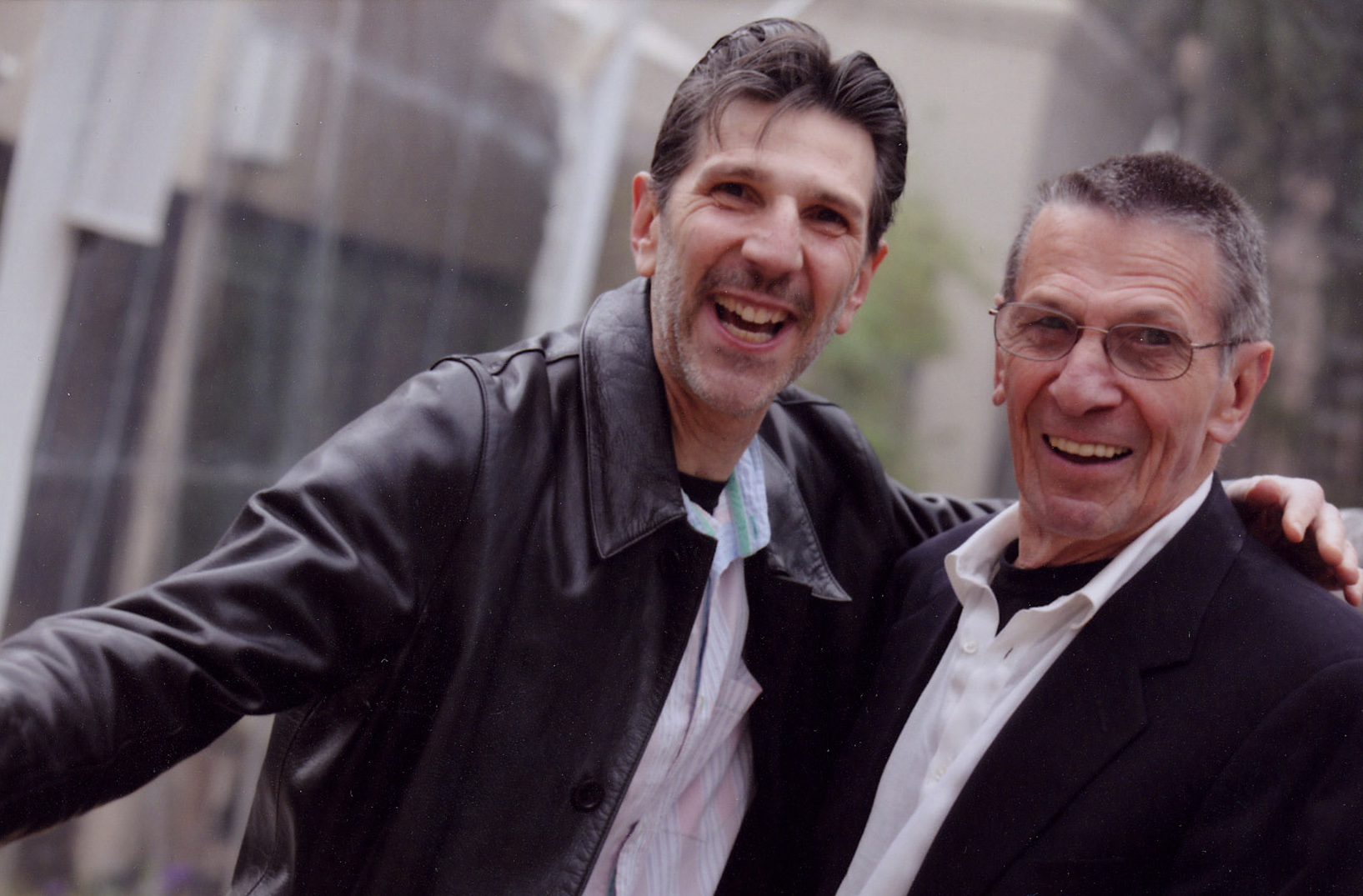Gallery Owner Richard Michelson and Leonard Nimoy