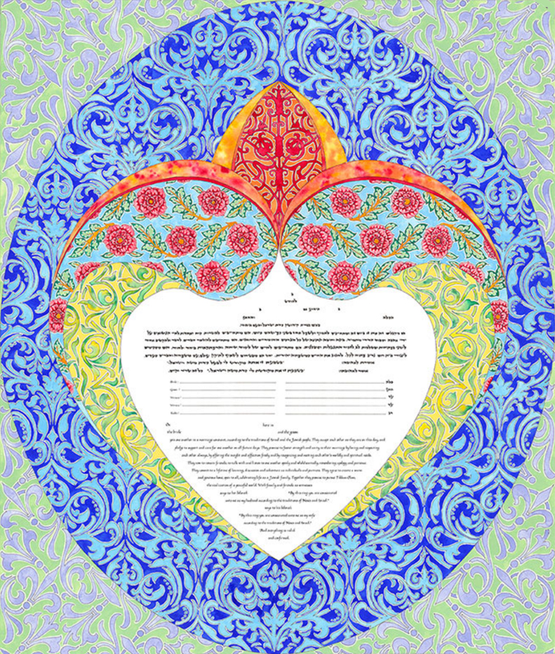 Magnetic Symmetry Ketubah