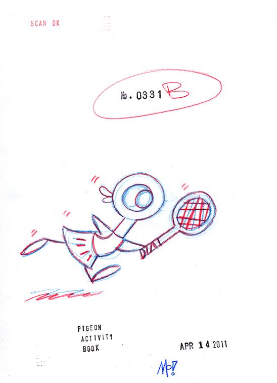 Duckling Tennis Sketch