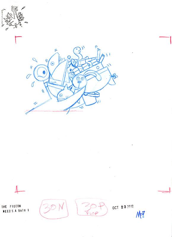 Bath Toys Sketch