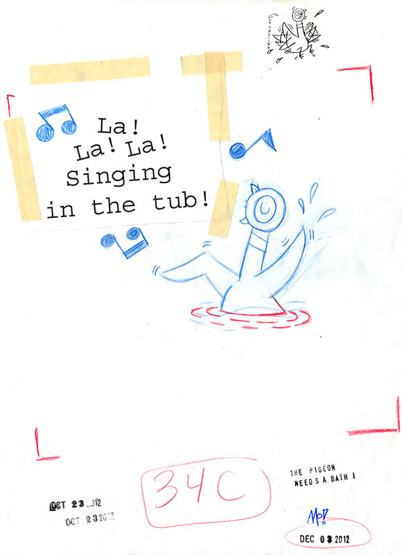 Singing in the Tub Sketch